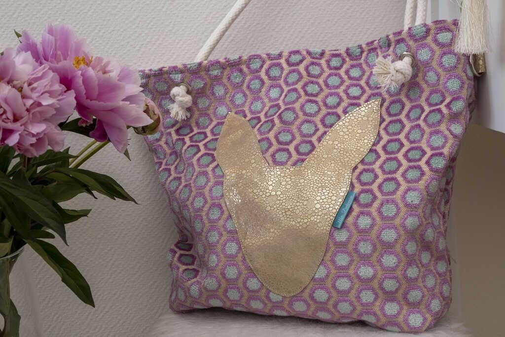 Violet Beach bag_Mr. Podenco voorzijde